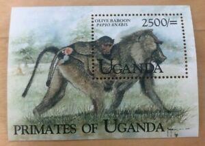Uganda 1999 - PRIMATES OF UGANDA - Souvenir Sheet (Scott #1626) - MNH