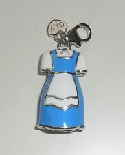 A STUNNING SILVER C`EST LA VIE ENAMELLED BLUE AND WHITE MAIDS OUTFIT CHARM