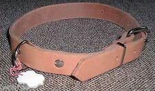 1 Hundehalsband Echt Leder natur 60,0 cm lng x 2,5 cm für den Liebling mit Ring