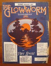 The Glow Worm Song Medium Key Sheet Music Copyright 1932 Paul Lincke AS IS (O)