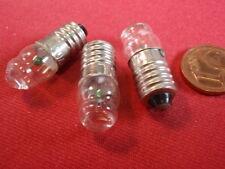 E10 Glühlämpchen mit LUPE im GLAS! 3,7V 0,3A für TASCHENANLAMPE!   3x  25094-160