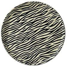 "Round 14"" Zebra Print Tray Serving Bar Pub Drinks Non-Slip Catering restaurant"