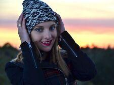 ISABEL MARANT pour H&M KNIT BLACK WHITE FRINGE BEANIE CAP HAT