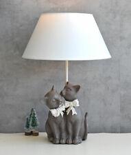 LEUCHTE KATZEN FIGUREN LAMPE LANDHAUSSTIL Kitten TISCHLAMPE KATZE KATZENLAMPE