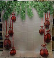 ABAKUHAUS Weihnachten Duschvorhang 175 x 200 cm grün rot