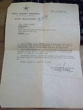 DOCUMENTO PARTITO NAZIONALE MONARCHICO 1949 AUTOGRAFO ON. ALFREDO COVELLI 11-322