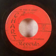 "Lynn Anderson If This is Love / Too Much of You 7"" 45 Chart country VG"