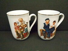Norman Rockwell Museum China Cups, 1982, Set Of Two, Beautiful & Pristine, L@K!