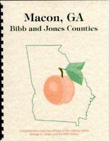 Bibb Jones County Georgia White's 1854 History + WPA Guide Macon GA Piedmont