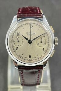 Very Rare Vintage BREITLING GENEVE Chronograph C.51,J.17 Hand-winding mens watch