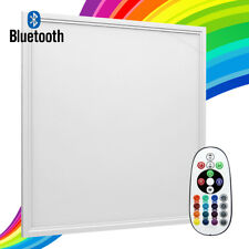 RGB Colour Changing LED Ceiling Panel Light 40W Bluetooth Smart Tile 600 x 600