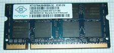 1Gb DDR2 667MHz, PC2-5300S, SDRAM, NT1GT64U8HB0BN-3C Nanya