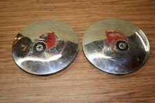Pair Of Vintage WHEEL HORSE TRACTOR Wheel Covers/Hub Caps - 8 Inch