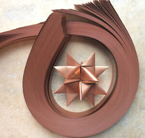 Paper Strips to make 3D Stars (Moravian Froebel Quilling ) Copper Sheen 1 inch