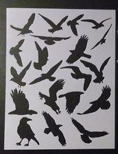 """Crow Bird Seagull Eagle Birds 8.5"""" x 11"""" Custom Stencil FAST FREE SHIPPING"""