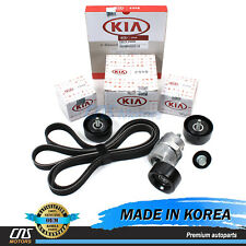 GENUINE V-Ribbed Belt A/C Belt Tensioner Kit for 06-10 Sonata Optima Rondo 2.4L