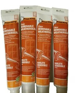 🌟NEW🌟Frost King Clear Removable Weatherseal Indoor/Outdoor Use. 5 oz. Lot of 4