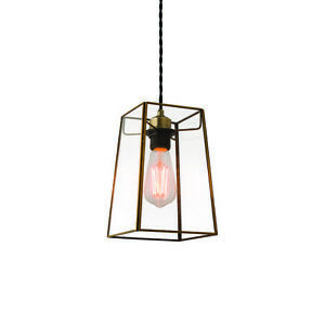 ENDON BEAUMONT 60W Non Electric Clear Glass & Antique Brass -SHADE ONLY 60892