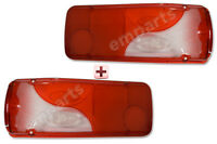 MERCEDES SPRINTER VW CRAFTER CAB CHASSIS REAR LAMP LIGHT LENS PAIR LEFT RIGHT