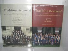 2 BOOK SET NEW Tradition Renewed: A History of the Jewish Theological Seminary