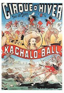 CP AFFICHE CIRQUE D'HIVER KACHALO BALL Edit R.M.N.
