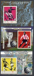 s5022) YEMEN Y.A.R.  1970 MNH** WC Football - CM Calcio S/S X 3 IMPERF