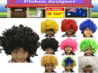 Children Kid Wig Afro Curly Clown Halloween Party Football Fan Costume Gift Fun