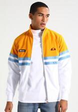 Ellesse Mens Track Top Jacket Rimini Yellow White Small