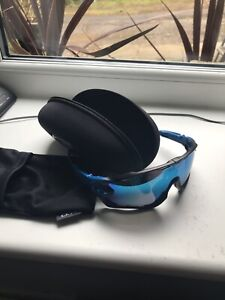 Oakley Jawbreaker Prizm Road Mirrored Blue cycling glasses buy it now considered