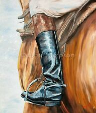 """Horse Racing Art Derby Triple Crown Derby Saddle Boot Matted Print 11"""" x 14"""" Mat"""
