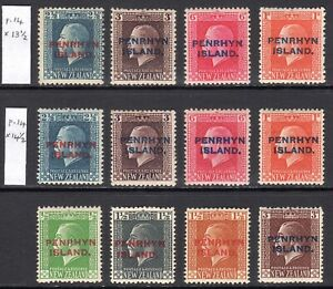 PENRHYN ISLAND 1917-20 KGV issues complete M, SG 24-31 cat £73