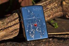 Zippo Lighter -  Zippo Flame with Red Swarovski Crystal - Engraved - AE184901
