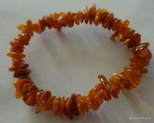Stretch  DARK honey  Baltic Amber Bracelet  #2A