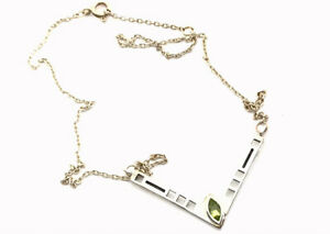 Sterling Silver Peridot Charles RENNIE Style Kit Heath 1997 Pendant Necklace