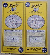 ) carte MICHELIN 24 ANDERMATT - BOLZANO 1967