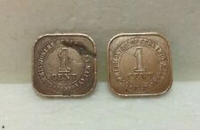 MALAYA  King George VI  1 cent coin x 2 pcs  1939 & 1940  #3