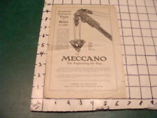 Original MECCANO 1918 -  4 PAGE CATALOG/ BROCHURE - Eiffel tower back cover