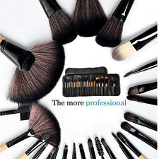 Professional 24PCS Natural Real Hair Makeup Brush Set with Pouch Beauty Brushes