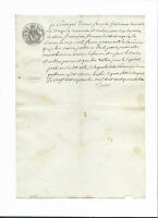 1848 manuscript notary recipt document letter nice signature original authentic