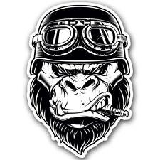 Gorilla Biker Helmet Sticker Motorcycle Spark Plug Vehicle hard hat car decal