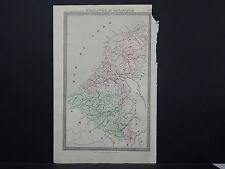Antique Map 1843, Holland Et Belgique (Holland & Belgium)