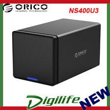 Orico Black NS400U3 4 Bay USB3 External Hard Drive Enclosure
