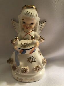 Vintage Napco porcelain angel july