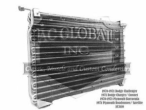 70 71 Dodge Plymouth Challenger Barracuda AC Condenser Charger 3441065 AC3110