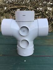 Marley Soil 87.5 Degree Double Branch Solvent Weld Grey SY404-SY404