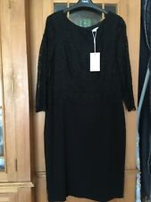 Bnwt Monsoon Black Lace Top Dress Sz 16