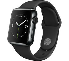 Apple Watch (A1553) 38mm Black Stainless Steel Case & Black Sport Band (285531)