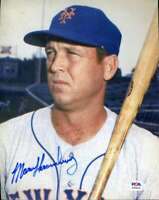 Marv Throneberry PSA DNA Coa Hand Signed 8x10 Mets Photo Autograph