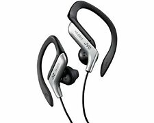 JVC HA-EB75 In-Ear Sweat Resistant Sports Headphones With Adjustable Clip Silver