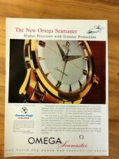 1967  CANADIAN CANADA AD NEW OMEGA SEAMASTER MENS WATCH CANADIAN PACIFIC AIRLINE